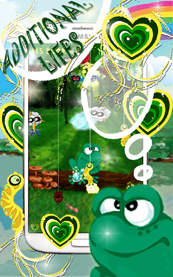 A Frog Shooter. Eat insects !- screenshot