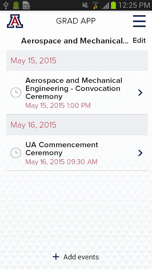 UA Grad- screenshot