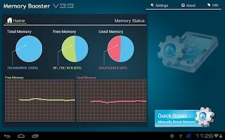 Screenshot of Memory Booster Tablet Version