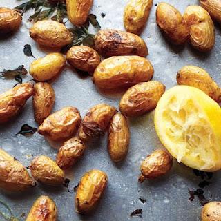 Roasted Potatoes with Oregano and Lemon.