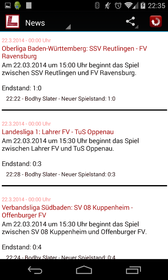 Luumaa Liveticker Ortenau - screenshot