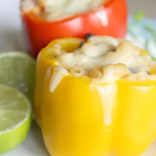 Jalapeno Macaroni & Cheese Stuffed Bell Peppers