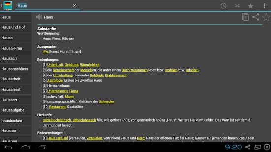 Deutsch-Wörterbuch Offline