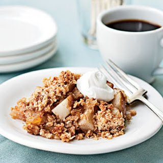 Pear Crisp with Oat Streusel Topping