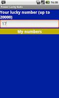 Screenshot of Powerball Magic Numbers