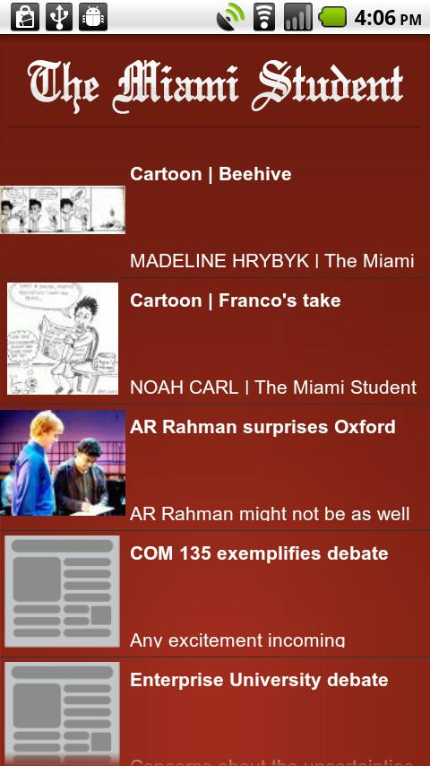 The Miami Student's Guide - screenshot