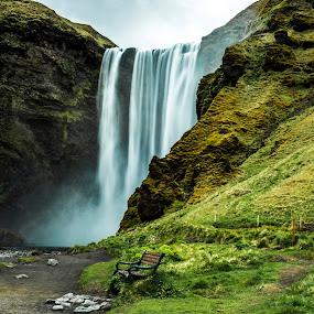Skógafoss Waterfall  by Lillian Molstad Andresen - Landscapes Travel (  )