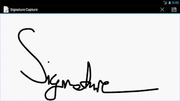 Screenshot of Signature Capture