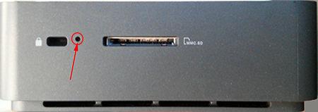 Dell Chromebox recovery button hole