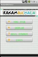 Screenshot of RakamBulmaca