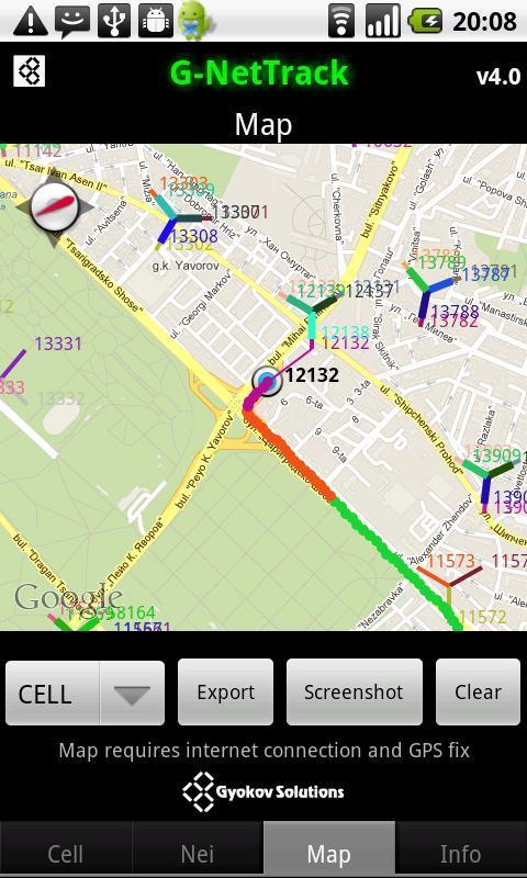 G-NetTrack - screenshot