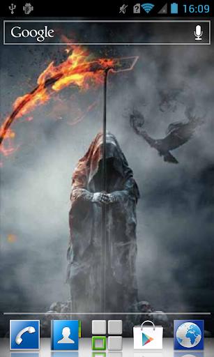 Death with fiery scythe LWP