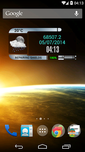 Star Trek clock weather widget