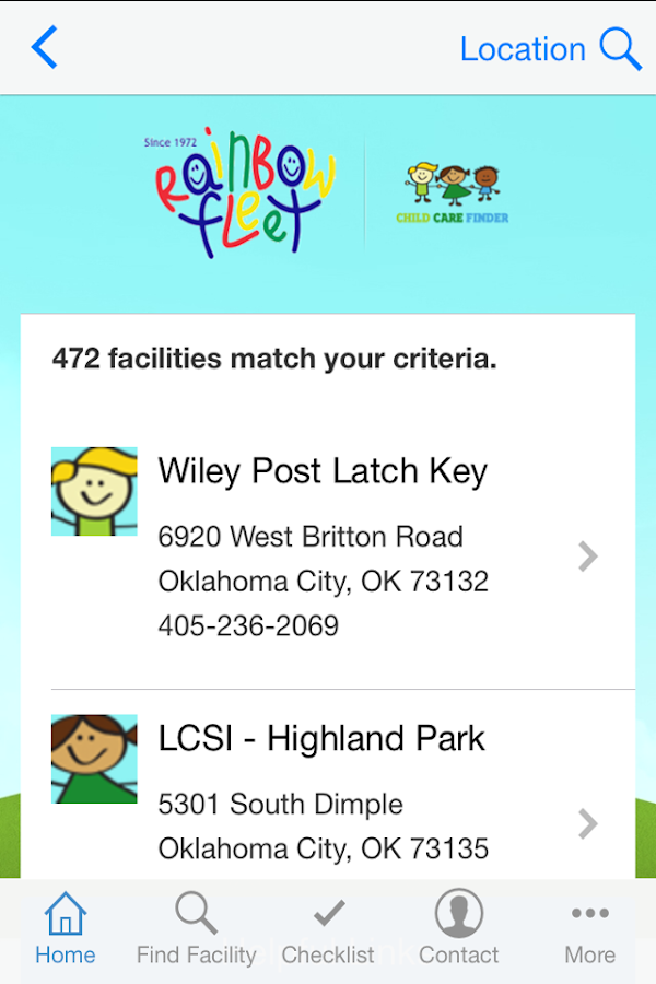 Child Care Finder- screenshot