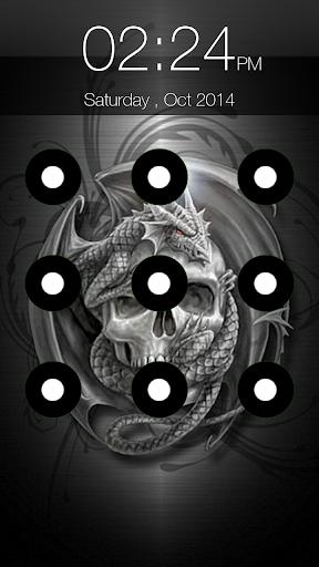 Skull Pattern Lock Screen 6.6 screenshots 4