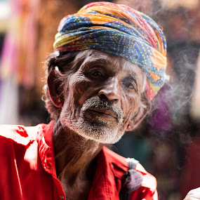 On The Streets of Pushkar by Avanish Dureha - People Portraits of Men ( pushkar, rajasthan, sunset, dureha@gmail.com, camels, india, avanish dureha,  )