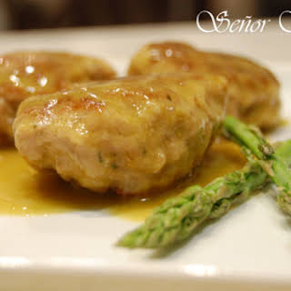 Russian Meatballs in a Wild Asparagus Sauce.