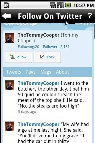 Tommy Cooper - Jokes and more - screenshot