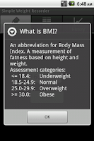Screenshot of Simple Weight Recorder