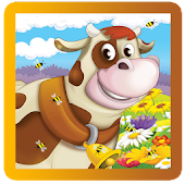 farm cartoon & animals puzzle