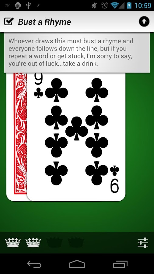 Kings (Drinking Game)- screenshot