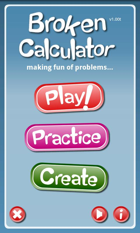 The Broken Calculator Game- screenshot