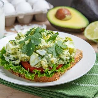 Creamy Avocado/Guacamole Egg Salad Sandwich.