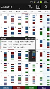 Business Calendar Screenshot 1