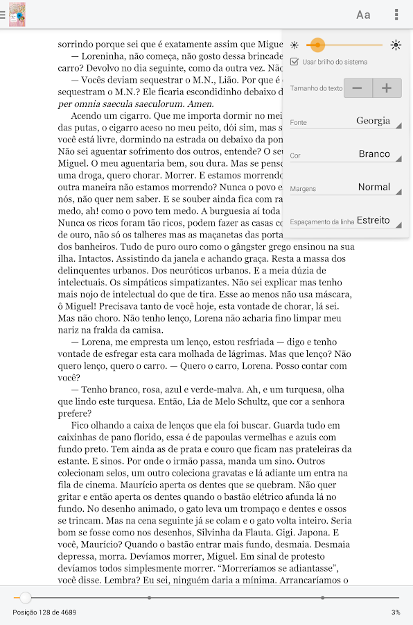Kindle: captura de tela