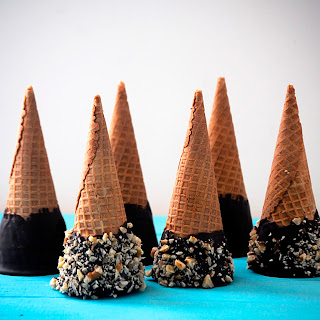 Cayenne Chocolate Walnut Ice Cream Cones