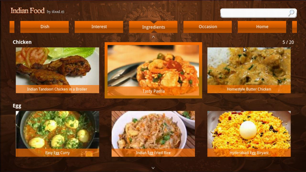Indian food for google tv android apps on google play for Google cuisine