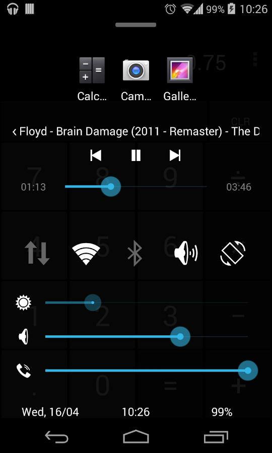 Quick Control Panel- screenshot
