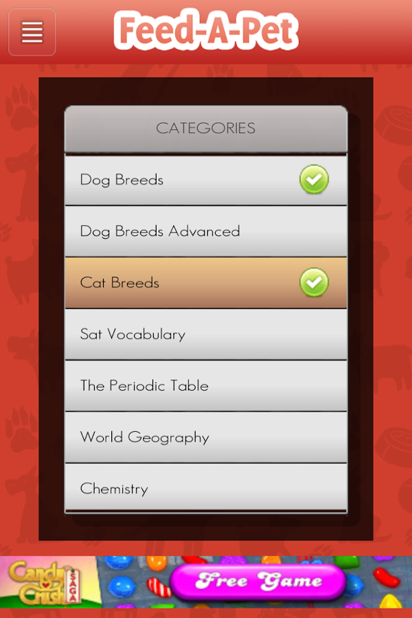 Feed-A-Pet Trivia for Charity - screenshot