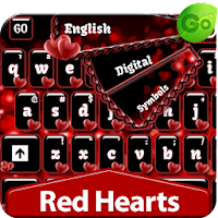 GO Keyboard Red Hearts 1.4