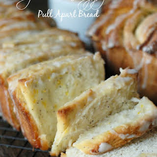 Meyer Lemon Poppy Seed Pull Apart Bread.