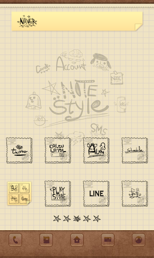 Notes dodol launcher theme