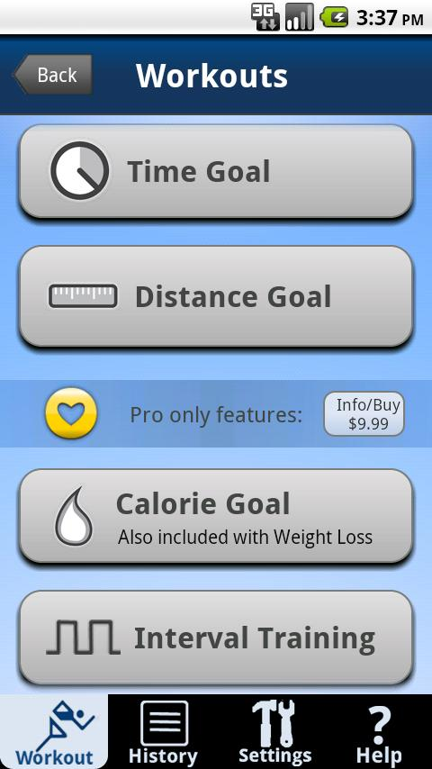 CardioTrainer- screenshot