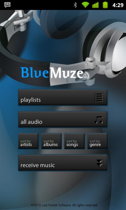 BlueMuze- screenshot