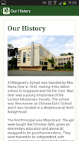 Screenshot of St. Margaret Primary School