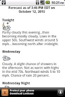 Screenshot of Instant Weather Forecast