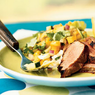 Grilled Pineapple and Avocado Salad.