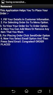 RESTAURANT MENU- screenshot thumbnail