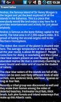 Screenshot of Andros Bahamas Travel Guide