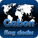 Gabon flag clocks icon