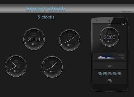 Smart clock zooper widget - screenshot thumbnail