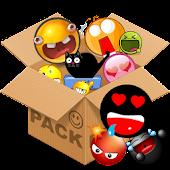 Emoticons pack, Black Smiley