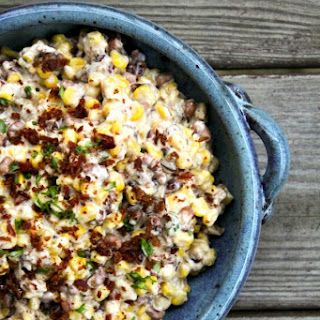 Slow-Cooker Black-Eyed Pea Dip with Corn + Bacon