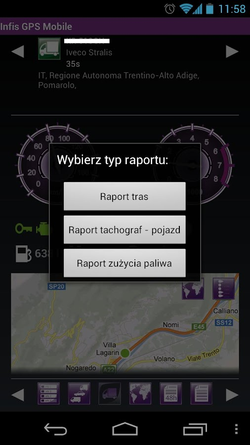 Infis GPS Mobile - screenshot