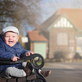 winter afternoon by Melissa Marie Gomersall - Babies & Children Toddlers ( bencuh, bright, afternoon, flatcap, baby, cute, sun,  )