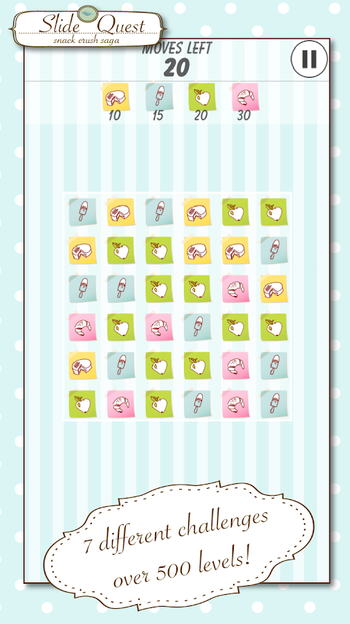 Slide Quest: Match The Snacks- screenshot
